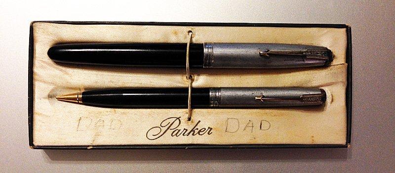 Parker 51 set pre-restoration